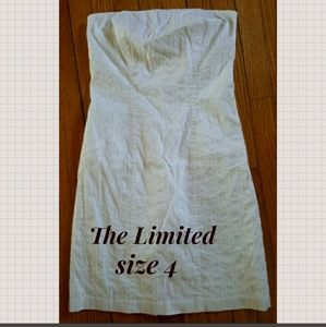 The Limited White Strapless Mini Dress